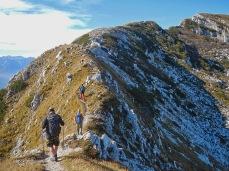 Sul sentiero di cresta