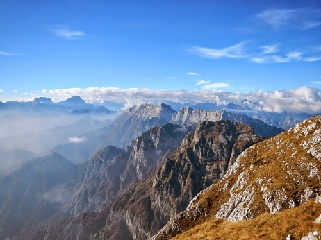 Panorama verso le Dolomiti Friulane