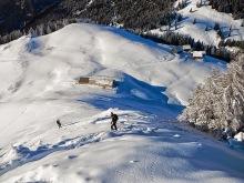 In discesa sul versante austriaco.