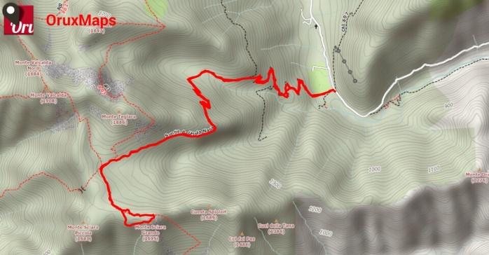 Mappa monte sciara