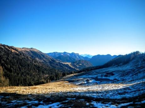 Dal sentiero CAI 210 verso la valle di Sauris