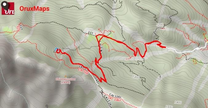 mappa chiampizzulon