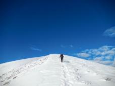 Sulla cresta finale del Monte Valsecca.