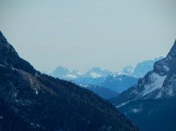 Sulle sfondo le Alpi Giulie.