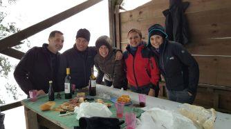 I partecipanti all'escursione: da destra Martina, Genny, Monica, Sergio, Marco (insieme a Carlo che ha scattato la foto).