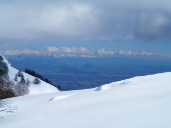 Panorama verso la pianura