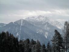 Panorama da casera Mezesnik verso il Monte Lussari e Cima del Cacciatore