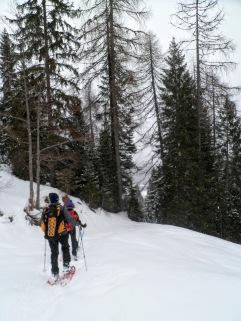 Scendendo verso la Val Rauna