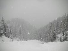 Bufera di neve a quota 1300.