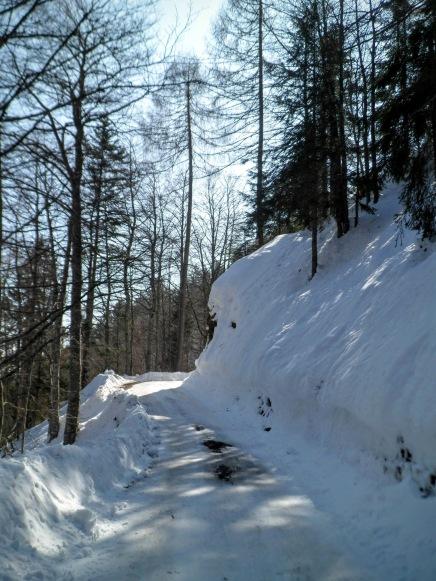 La strada che sale al Monte Ruke