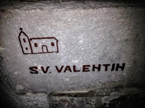 Ruderi della chiesa di San Valentino