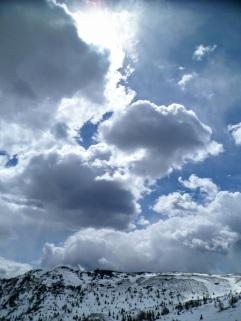 Da casera Teglara verso il monte Sciara