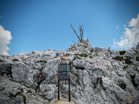 Vetta del monte Chiavals