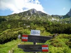 Sullo sfondo il monte Chiavals