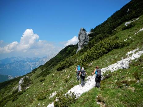 Si sale verso il monte Chiavals
