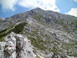 Il versante ovest del monte Chiavals