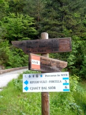 Indicazioni al parcheggio della Val Alba