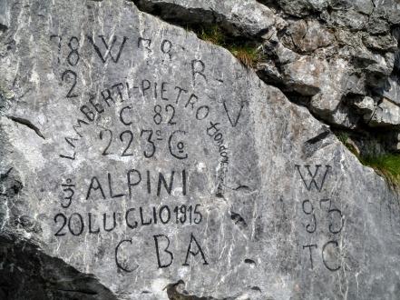Iscrizione 223^ Compagnia Alpina 1915