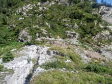 Lavori di recupero nei pressi di passo Cavallo