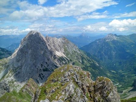 Panorama verso valle Valentina