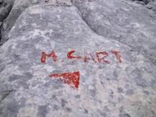 Indicazioni per salita al monte Sart