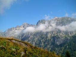 Panorama verso Cima d'Asta (a sx)