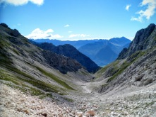 Da Sella Prevala verso la valle di Bovec