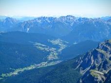 Panorama verso Sappada e la Val Pesarina