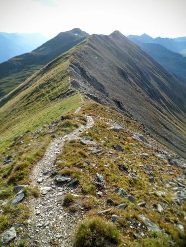 Cresta del Zupalkogel verso ovest