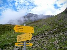 Incrocio di sentieri nella valle di Lasnitz