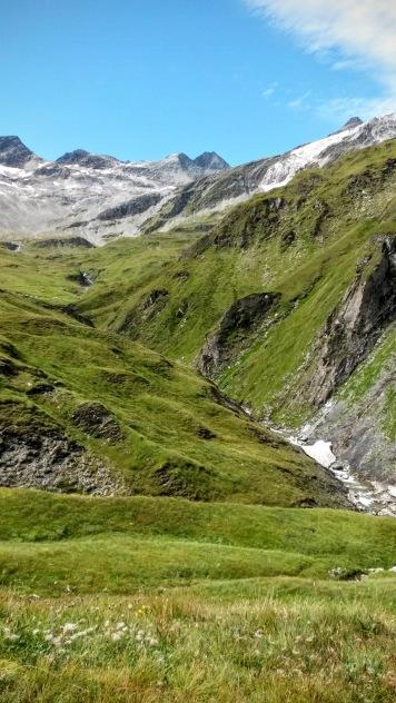 La valle del torrente Daberbach verso sud