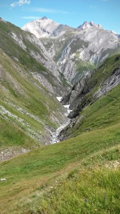 La stretta valle del torrente Daberbach verso nord