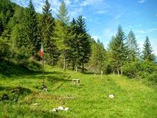 """Il luogo dove sorgeva il comando del battaglione """"Monte Granero"""""""