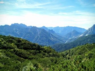 Panorama verso val Aupa