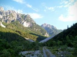 Val Meluzzo dopo il bivio con il sentiero CAI 362