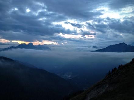 Panorama al tramonto verso Collina