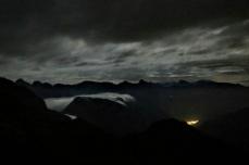 APanorama verso passo di Monte Croce Carnico alle 4.00