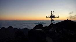 La croce di vetta del monte Coglians.