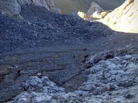 Sui ghiaioni del Coglians.