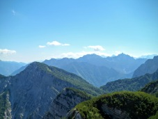 Panorama verso monte Flop
