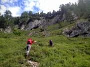 Pendii erbosi del monte Tuglia