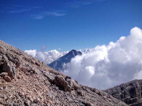 L'Antelao visto dalla cresta sommitale.