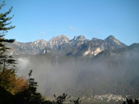 Panorama verso Zuc dal Bor
