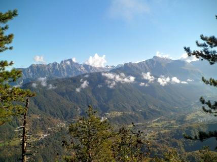 Panorama verso val Resia e monte Sart