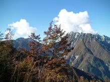 Panorama verso monte Lavara a destra