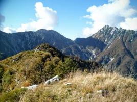 Da sx: Cima Campo, Forca Campidello e monte Lavara
