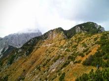 Sul traverso guardandosi indietro verso monte Sernio