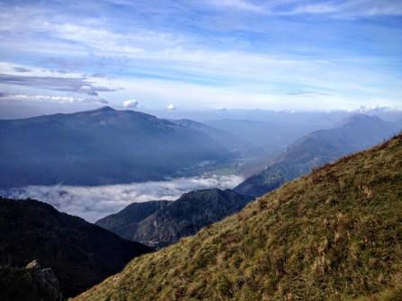 Panorama verso la valle dell'Isonzo e il monte Matajur