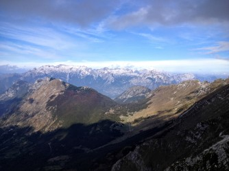 Panorama verso Canin e Montasio