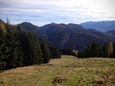 Panorama verso monte Acomizza